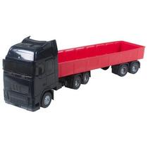 Brinquedo Caminhão Carreta Graneleira 56cm Frete Grátis