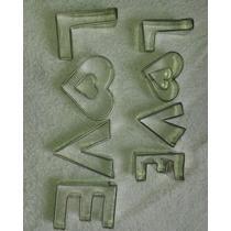Cortadores De Galletas Love Para San Valentin