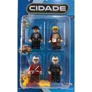 Bloco De Montar Personagens Profissões Xalingo Modelo Lego