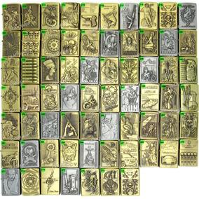 Isqueiro Metal Vintage, Antigo Bronze, Escolha 280 Modelos