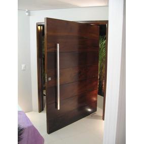 Puertas principales de madera solida en mercado libre m xico for Puertas de madera minimalistas