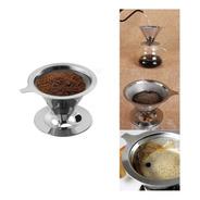 Coador De Café Pour Over Inox Tam 102 Não Precisa Filtro