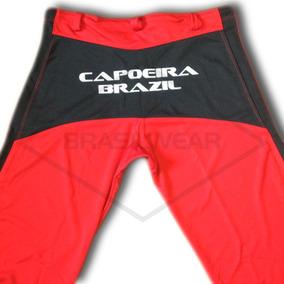 Calça Capoeira Vermelha Abada Helanca Poliamida Free Bonfim