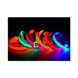 Collar Para Perros Gatos Ajustable Con Luces Led 3 Modos Luz