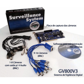 Placa Captura Cftv Geovision Gv800 16 Canais / 4 Audio