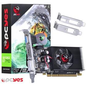 Placa De Vídeo Geforce Nvidia Gt 710 2gb Ddr3 64 Bits Low Pr