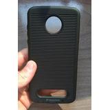 Capa Case Anti Impacto H Maston Preta Moto Z2 Play 5.5 Xt171