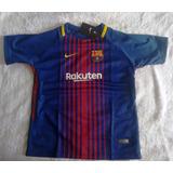 Camisa Futebol Barcelona Home Infantil 2017 18 - Messi 10 df57833fbc2b3
