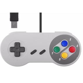 2 Controles Usb Super Nintendo Snes Joypad Oferta Compre Já