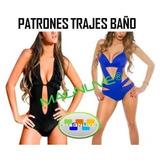 Kit Patrones Moldes Trajes Baño Bikinis Trikinis Mujer Niña