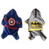 Chamarra Sudadera Capitan America O Batman Para Perro