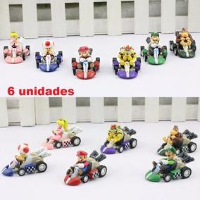 6 Carrinhos Mario Kart Fricção Brinquedo Game Super Desconto