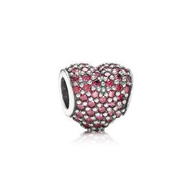 Charm - Corazón Pavé Rojo - Pandora