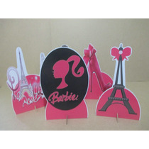 Kit 10 Display Barbie Paris Decoração De Mesa,festas