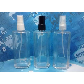 12 Frascos De Vidro De Perfume 100 Ml Válvula Spray