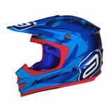 Capacete Asw Podium Nirvana Azul. Motocross Trilha Tam 62