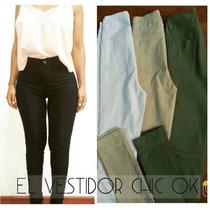 Pantalones Calce Perfecto Sexyelastizado Tiro Alto Calidad