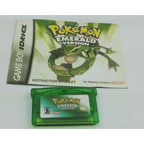 Pokemon Emerald Gba Com Manual - Salvando 100%