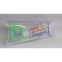 Kit C/10 Escova,creme Dental Colgate Mini, E Fio 25 Mts