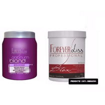 Btox Platinum Blond 1kg + Btox Argan Oil 1kg Forever Liss
