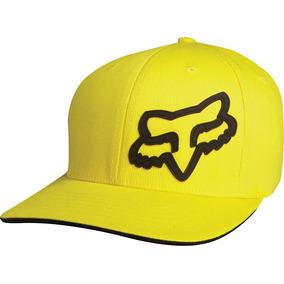Gorra Fox Racing Signature Flexfit Negro L xl Amarillo  3cb7fca85d0