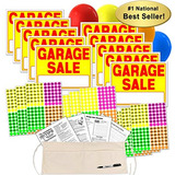 Garage Sale Sign Kit With Pricing Labels And Change Apron (a