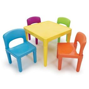 Tot Tutors Crianças De Mesa De Plástico E 4 Cadeiras, Conj