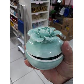 10 Porta Jóia De Porcelana C/ Flor Color 8x8 Cm Imperdível