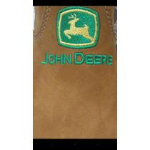 Botina Bota John Deere ( 5 Par ) Couro Mel Promoção Bordado