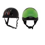 Casco Corto, Dot, 2 Piezas, Black Half Helmet, Envió Gratis