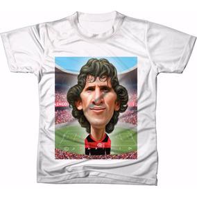 a60b16c756 Camisa Camiseta Personalizada Zico Galinho Flamengo