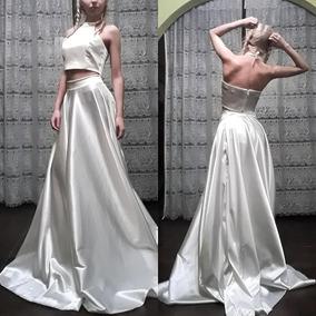 Vestido/conjunto De 15 Años, Novia De Top Y Falda Plato