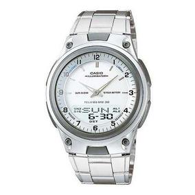 Relógio Casio Masculino Aw-80d Digital/analógico Prata