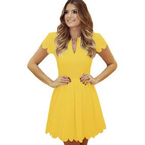 Vestidos cortos amarillos para fiesta