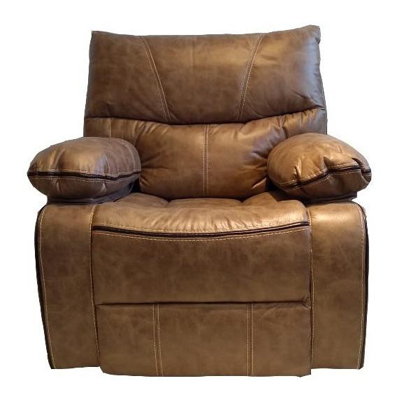 Sillón Sofa Reclinable Mecedor Relax 1 Cuerpo Jade Marrón