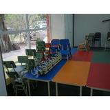 Mesa Escuela Jardin De Infantes Y 2 Sillas Para Niños