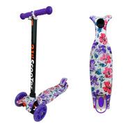 Scooter Monopatin Flores Moradas Led Regulable / Lhua Store