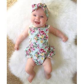 Roupa Bebê Body Babadinho Renda Floral Top Menina Importado