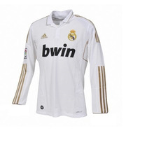 Camiseta Real Madrid Manga Larga 2012-2013 Escudo Plastico