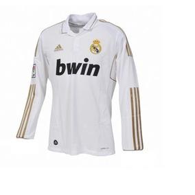 Camiseta Real Madrid Manga Larga 2012-2013 Escudo Plastico