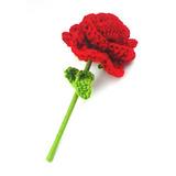 Rosa Tejida A Mano En Crochet