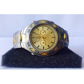 Reloj De Pulsera Cuarzo Vintage Plateado Gold Jeep Hombre