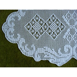 Toalha De Mesa Em Crochê Oval (108 X 60 Cm) - Cores Variadas