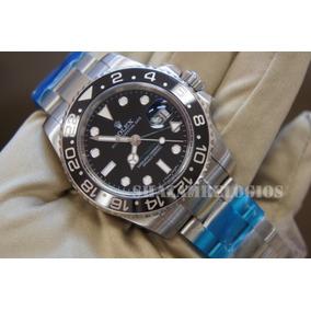 Relogio Rolex Gmt Master Ii Preto Gen Bezel V7 Cal.3186