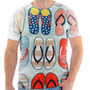 Camiseta Camisa Sandalia Estampa Verão 2016 Summer