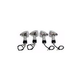 Pisca Cromado Moto Custom Kit 4 Pcs