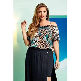 Blusa Realist Plus Size Ciganinha Roupa Para Gordinha