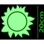 Kit Sol Luna Estrellas Grandes Fluorescentes Brilla Noche Eg