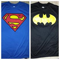 Playera Superman Y Batman, Fit, Original Dc Comics