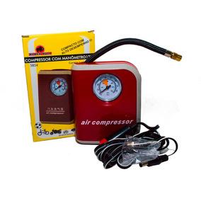 Compressor De Ar Automotivo Com Manômetro Mini Portátil 12v